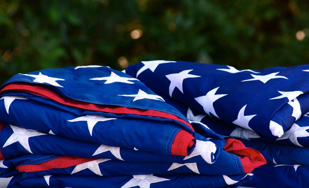 ceremony for disposing of tattered or worn out flags