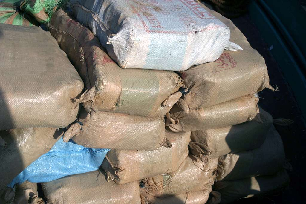 Over 2,800 pounds of narcotics, believed to be hashish was seized.