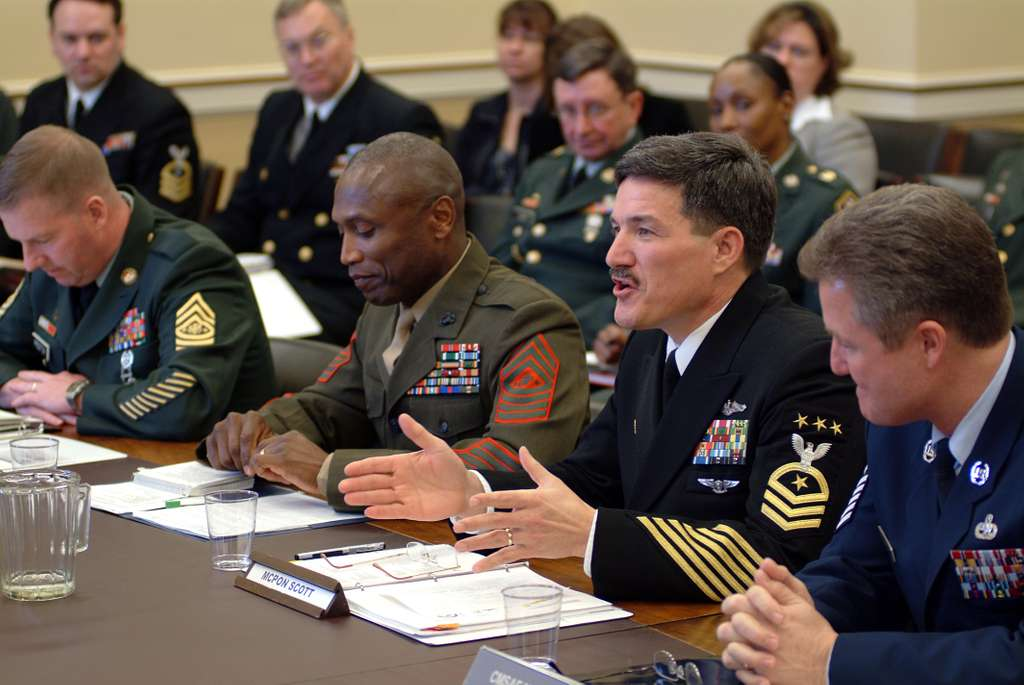 Master Chief Petty Officer of the Navy (MCPON) Terry Scott testifies before the House Appropriations Committee, subcommittee on Military Quality of Life and Veteran's Affairs.