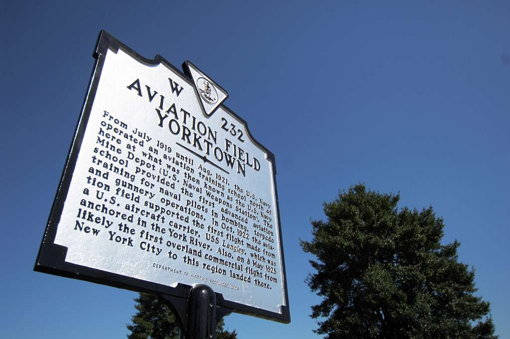 An historical marker for Aviation Field Yorktown was unveiled during a dedication ceremony, sponsored by the Virginia Aeronautical Historical Society in Yorktown.