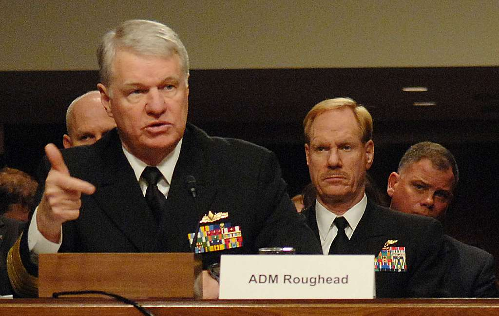 Chief of Naval Operations (CNO) Adm. Gary Roughead testifies before the Senate Armed Services Committee.