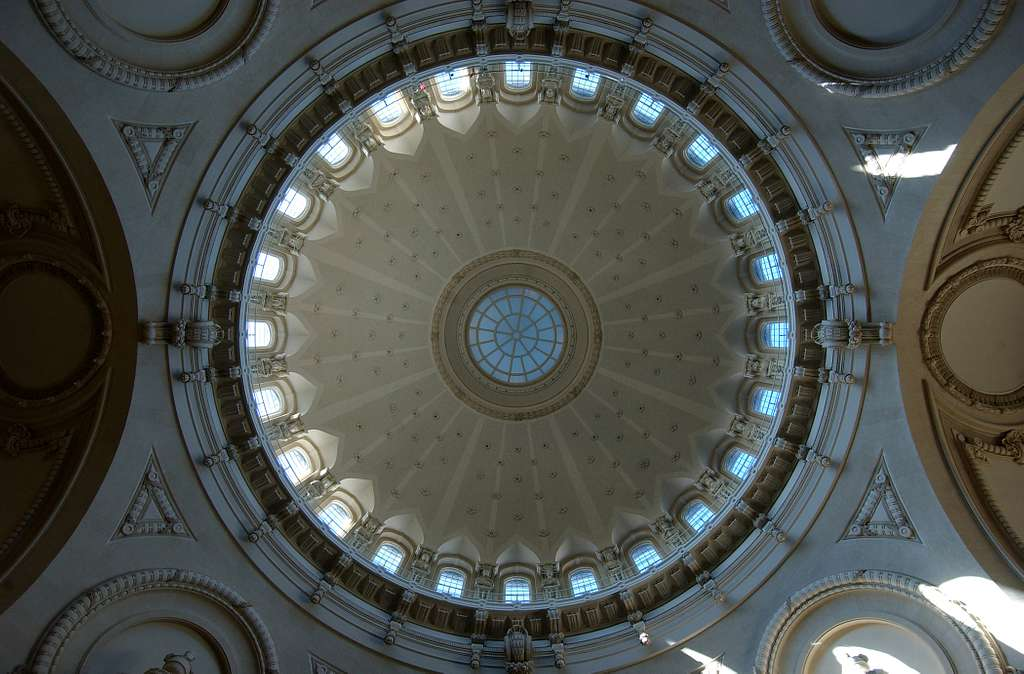 The dome of the U.S. Naval Academy Chapel in Annapolis.
