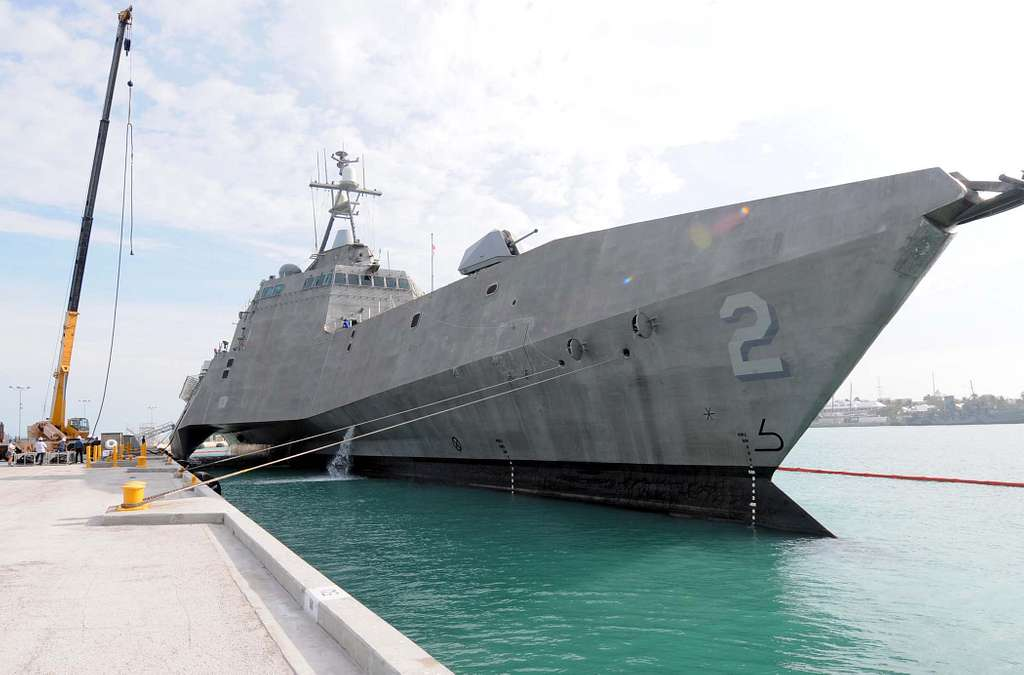 The Navy's newest littoral combat ship USS Independence (LCS 2) is moored pier side in Key West, Fla.