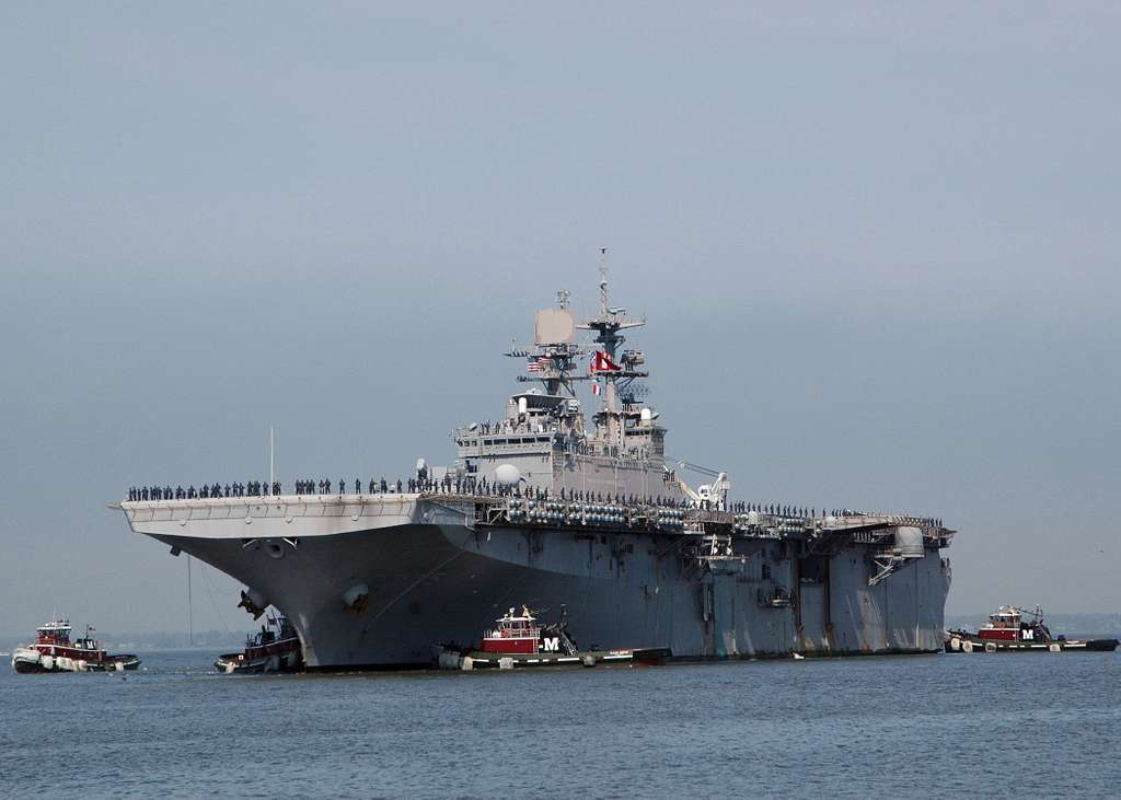 USS Bataan (LHD 5) returns to Naval Station Norfolk.