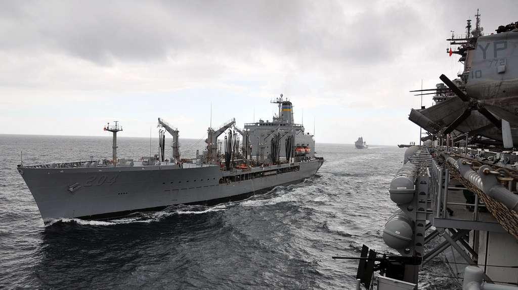 The Military Sealift Command fleet replenishment oiler USNS Rappahannock (T-AO 204)