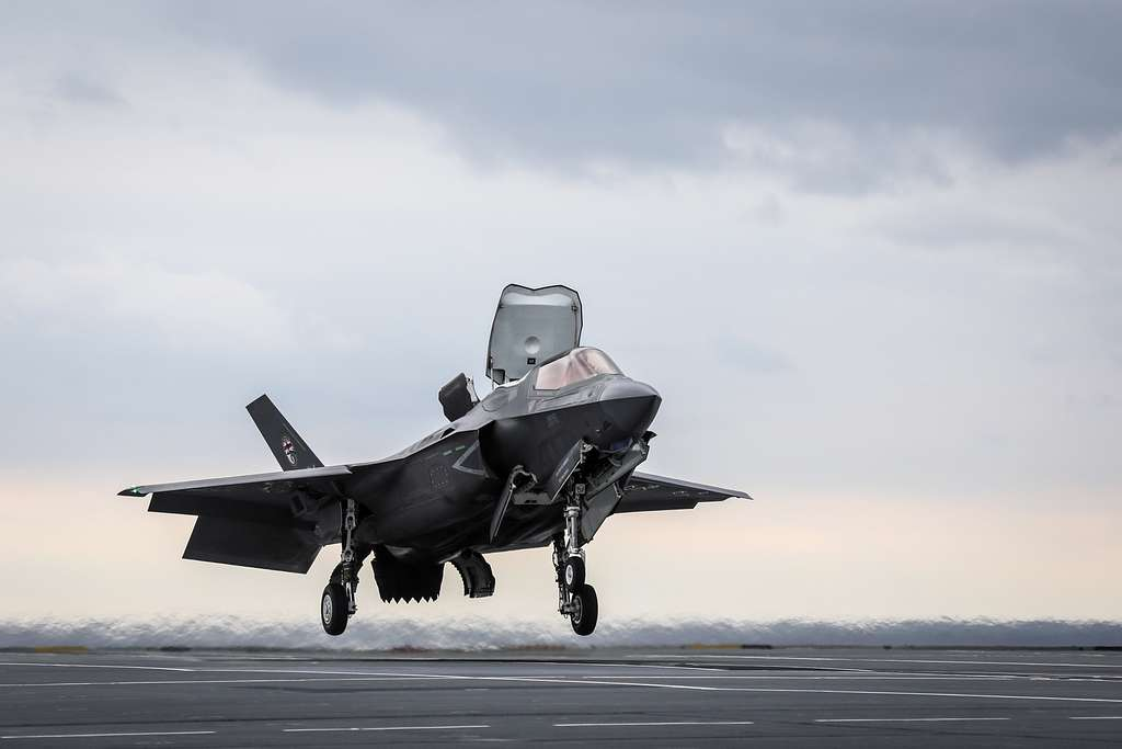 An F-35 Lightning II assigned to the F-35 Integrated Test Force at Naval Air